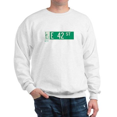42nd Street in NY Sweatshirt