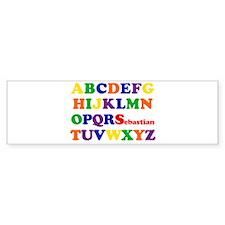 Sebastian - Alphabet Bumper Bumper Sticker