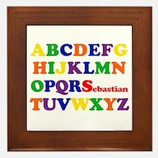 Sebastian - Alphabet Framed Tile