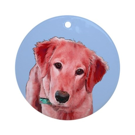 Pop Golden Retriever Ornament (Round)