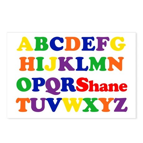 Shane - Alphabet Postcards (Package of 8)