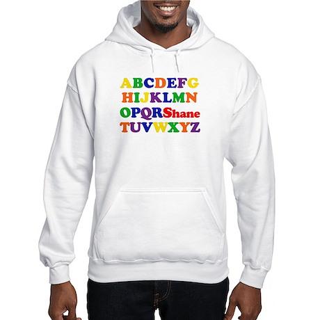 Shane - Alphabet Hooded Sweatshirt
