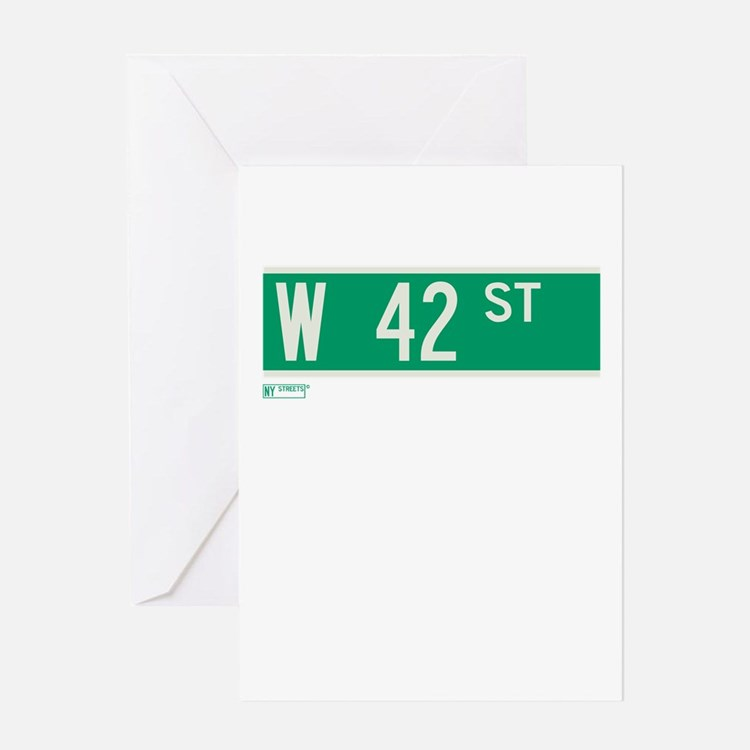 42nd Street in NY Greeting Card