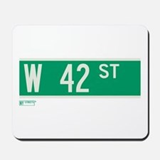 42nd Street in NY Mousepad