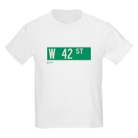 42nd Street in NY Kids Light T-Shirt