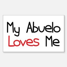 My Abuelo Loves Me Rectangle Decal