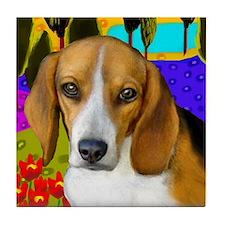 BEAGLE DOG LAKE Tile Coaster