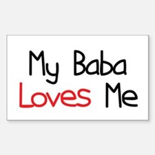 My Baba Loves Me Rectangle Decal