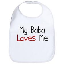 My Baba Loves Me Baby Bib