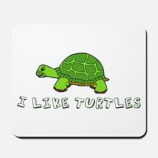 I Like Turtles Mousepad
