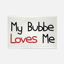 My Bubbe Loves Me Rectangle Magnet