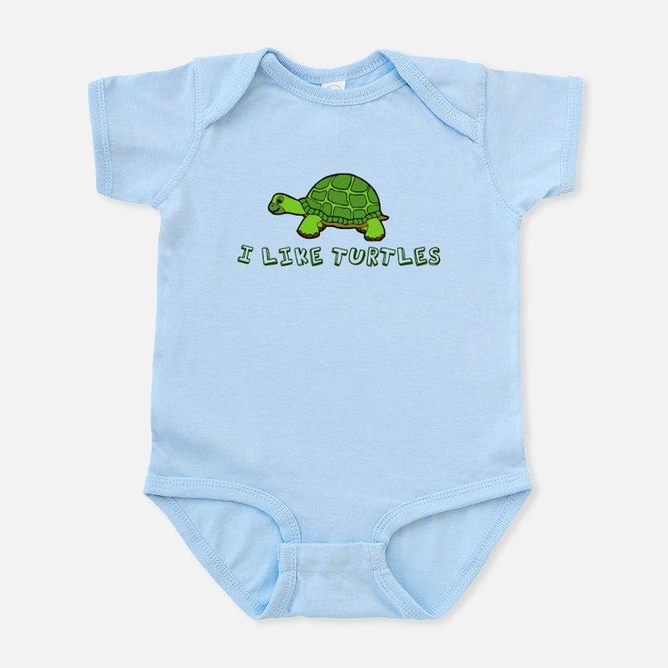 I Like Turtles Infant Bodysuit
