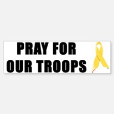 Pray For Our Troops Ribbon Bumper Bumper Bumper Sticker
