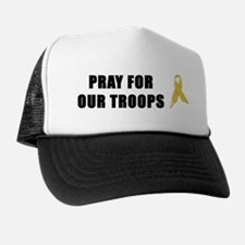 Pray For Our Troops Ribbon Trucker Hat
