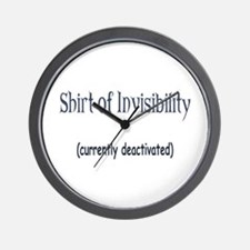 Shirt of Invisibility - curre Wall Clock