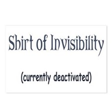 Shirt of Invisibility - curre Postcards (Package o