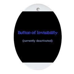 Button of Invisibility Oval Ornament