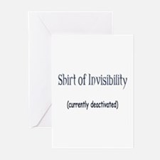 Shirt of Invisibility - curre Greeting Cards (Pk o