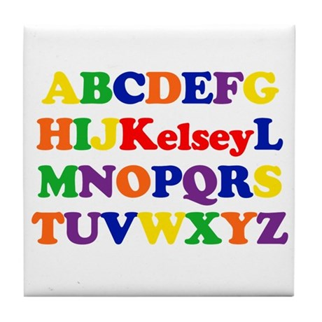 Kelsey - Alphabet Tile Coaster