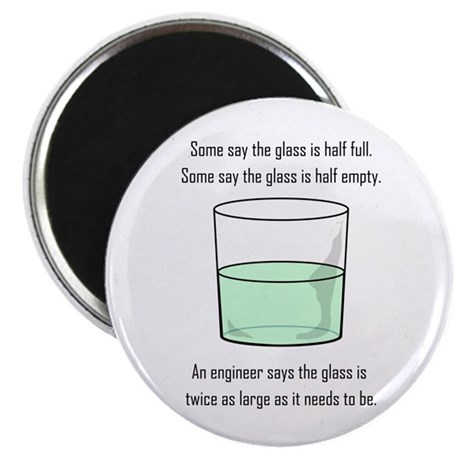 The Glass is Too Large Magnet