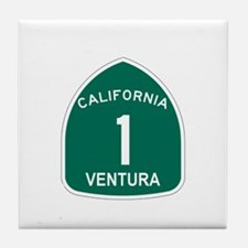 Ventura, California Highway 1 Tile Coaster