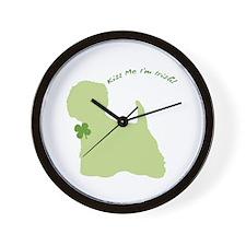 Westie... Kiss Me I'm Irish! Wall Clock