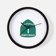 Venice Beach, California High Wall Clock