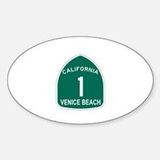 Venice Beach, California High Oval Decal