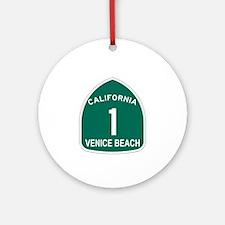 Venice Beach, California High Ornament (Round)
