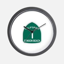 Stinson Beach, California Hig Wall Clock