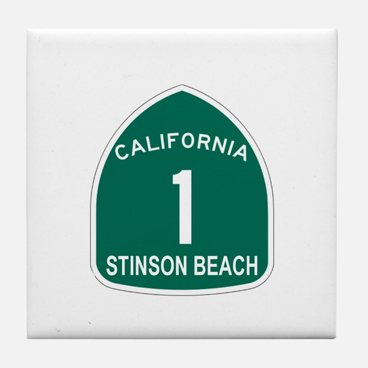 Stinson Beach, California Hig Tile Coaster