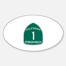 Stinson Beach, California Hig Oval Decal