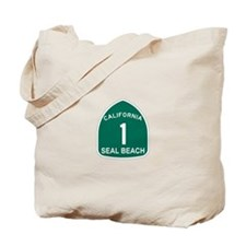 Seal Bech,California Highway Tote Bag