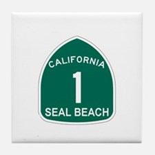 Seal Bech,California Highway Tile Coaster