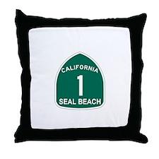 Seal Bech,California Highway Throw Pillow