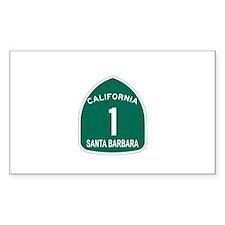 Santa Barbara, California Hig Sticker (Rectangular