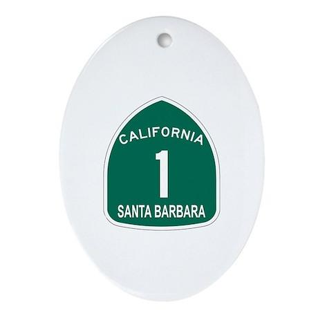 Santa Barbara, California Hig Oval Ornament
