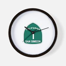 San Simeon, California Highwa Wall Clock