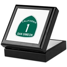 San Simeon, California Highwa Keepsake Box