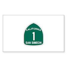 San Simeon, California Highwa Sticker (Rectangular