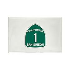 San Simeon, California Highwa Rectangle Magnet (10