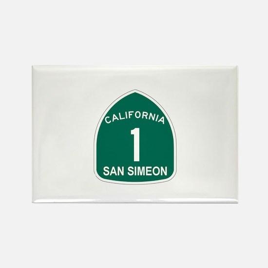 San Simeon, California Highwa Rectangle Magnet