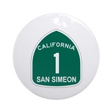 San Simeon, California Highwa Ornament (Round)