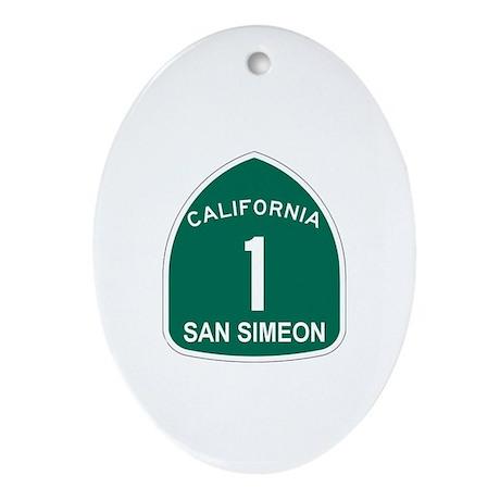 San Simeon, California Highwa Oval Ornament