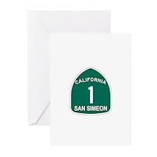San Simeon, California Highwa Greeting Cards (Pk o
