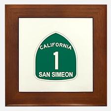 San Simeon, California Highwa Framed Tile