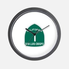 San Luis Obispo, California H Wall Clock