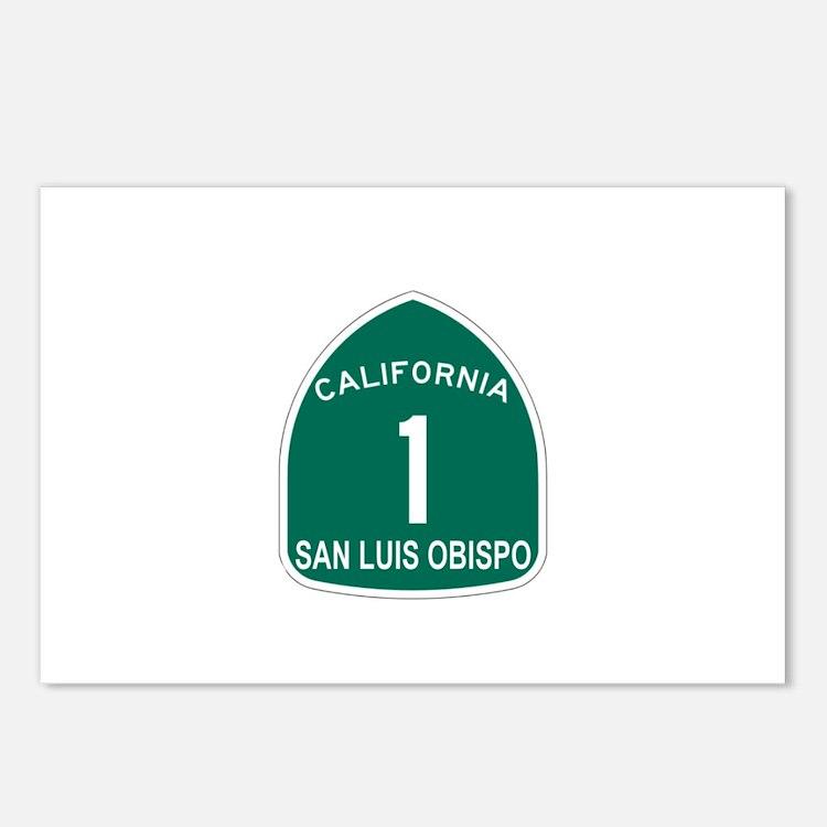 San Luis Obispo, California H Postcards (Package o