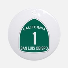 San Luis Obispo, California H Ornament (Round)
