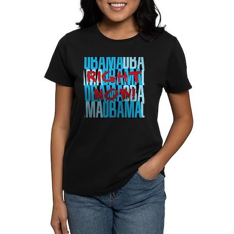 Obama Right Now Women's Dark T-Shirt